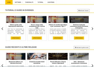 Novità siti Web ACUT